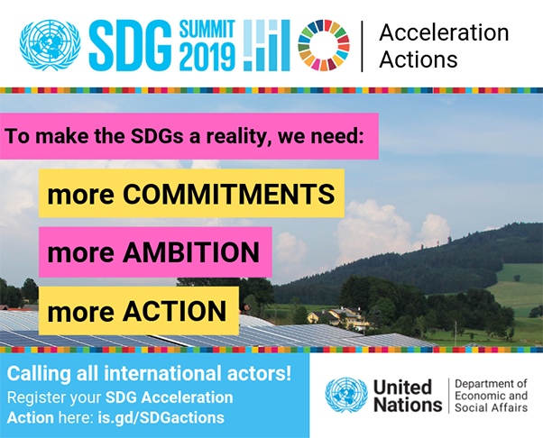 SDG Acceleration Actions flyer