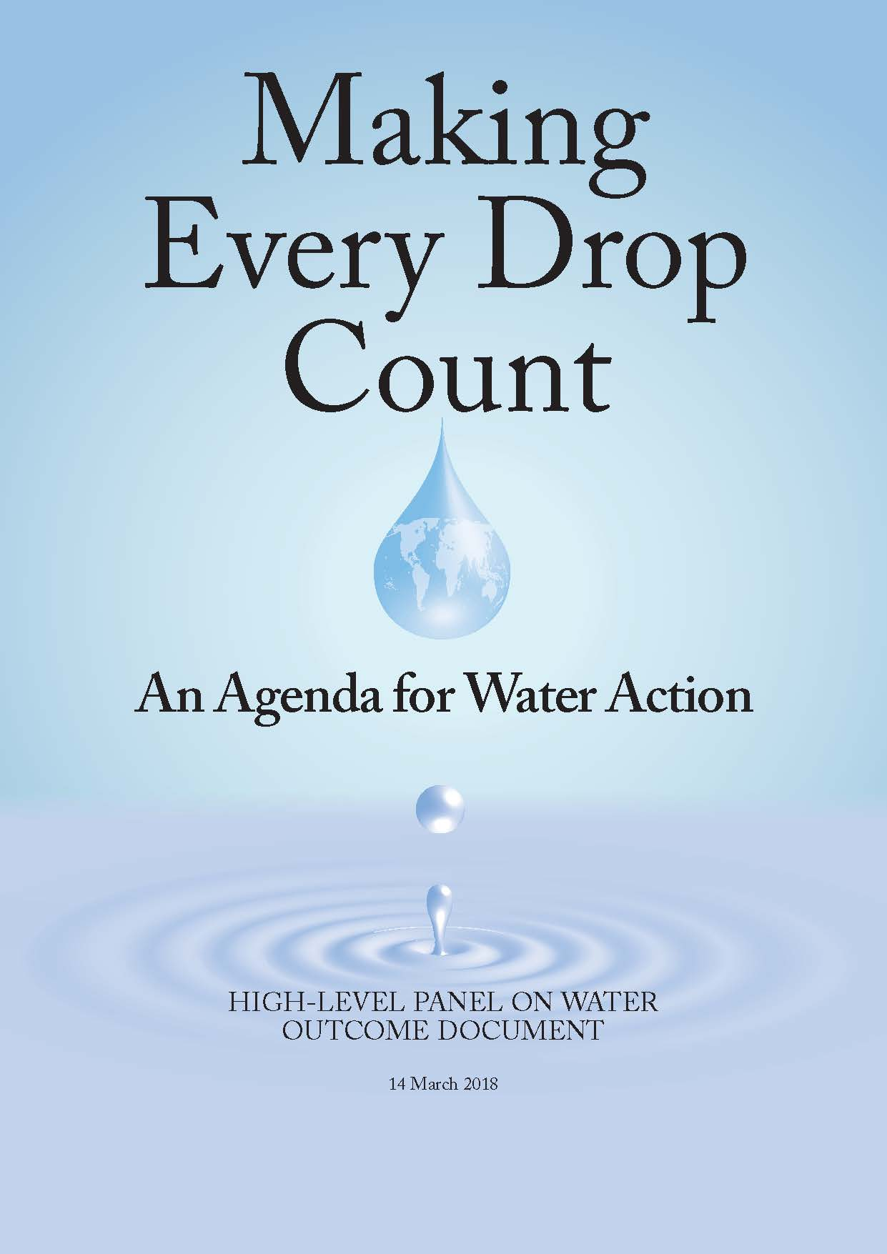 An Agenda for Water Action