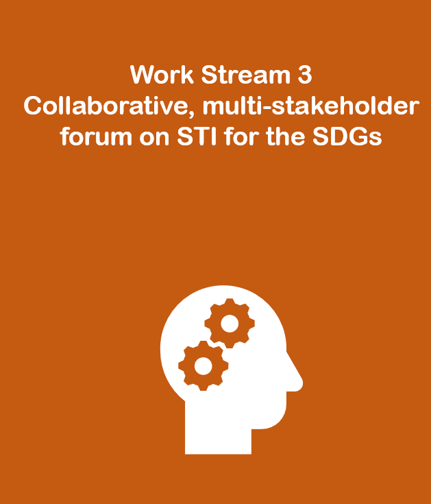 Work Stream 3: Collaborative, multi-stakeholder forum on STI for the SDGs